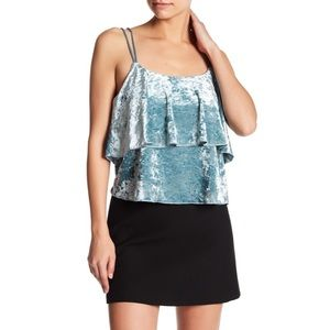Romeo and Juliet Couture Top Flounce Velvet Tank